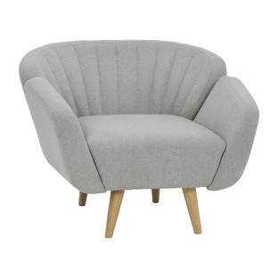 Light Grey Slice Arm Chair