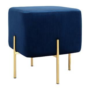 Blue Velvet Chloe Ottoman