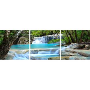 Soft Waterfalls Triptych (Set of 3)
