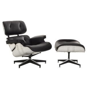 Eames Replica Aluminium Lounge Chair & Ottoman