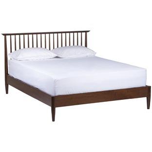 Queen Olsen Walnut Spindle Bed