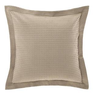 Deluxe Waffle Tan Euro Pillowcase
