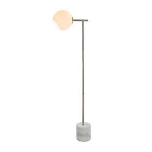 Brass & White Bagneux Metal Floor Lamp