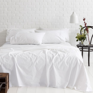 White Vintage Softwash Cotton Sheet Set