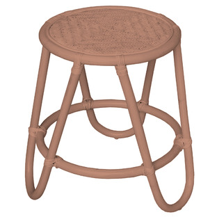 Blush Pink Tilly Rattan Side Table