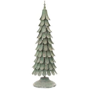 Green Light Up Metal Pine Tree