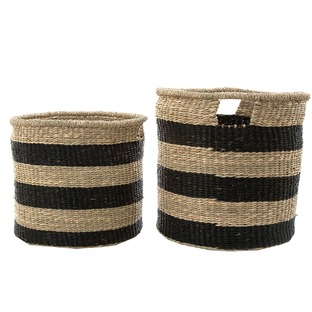 2 Piece Stripy Playa Grand Basket Set