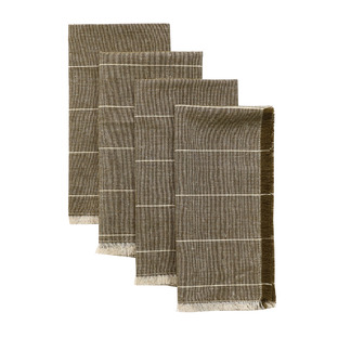Wild Stripe Recycled Brushed Cotton Table Napkins (Set of 4)