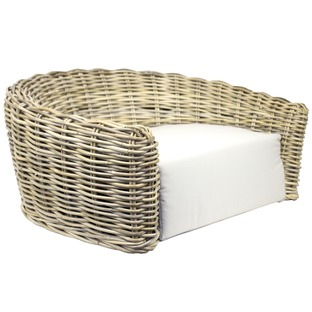 Natural Round Wicker Pet Bed