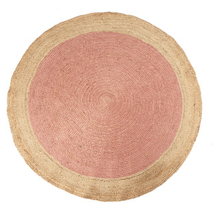 Blush Kendi Hand-Loomed Jute Round Rug