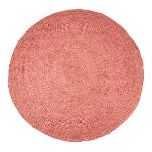 Pink Benton Jute Round Rug