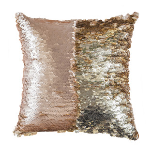 Blush & Gold Mermaid Cushion