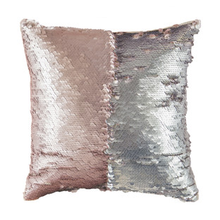 Silver & Rose Gold Mermaid Cushion