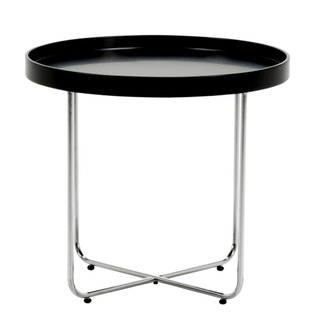 Black & Chrome Tracy Side Table