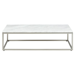 Volakas White Marble Top & Stainless Steel Bran Coffee Table