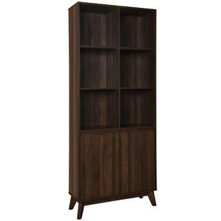 Walnut Anderson 6 Shelf Bookcase