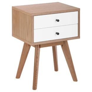 Torsby Spritz Scandinavian 2 Drawer Bedside Table