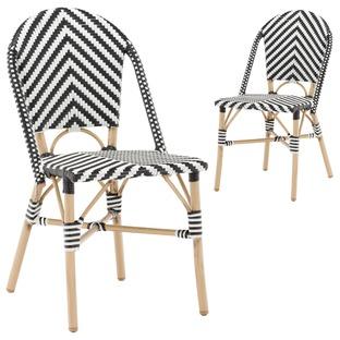 Paris PE Rattan Cafe Dining Chairs (Set of 2)