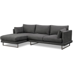 3 Seater Grey Zanda L-Shaped Sofa