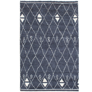 Navy Ostin Hand-Knotted Wool Rug
