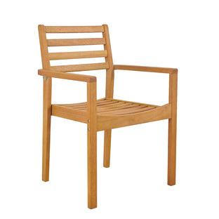 Verona Wooden Stackable Outdoor Dining Chair