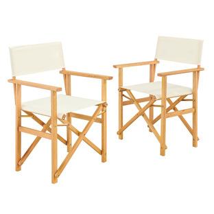 Belize Wooden Outdoor Director's Chairs (Set of 2)