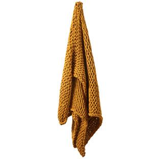 Turmeric Chunky Knit Throw