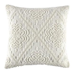 White Edie Hand-Loomed Cotton Cushion