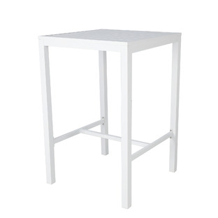 White Kos Square Aluminium Outdoor Bar Table