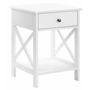 White Noosa Bedside Table