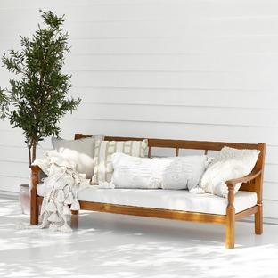 Ibiza Acacia Outdoor Daybed with Cushion