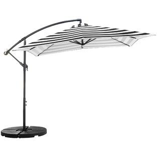 2.59m Striped Brighton Cantilever Umbrella