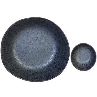 12 Piece Rania Ceramic Earthen Soup & Dipping Bowls Set