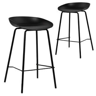 Modern Deanna Moulded Seat Barstools (Set of 2)