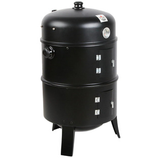 3 in 1 Black Charcoal BBQ Smoker