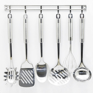 Exquisite Kitchen Utensils & Hanging Rack Set