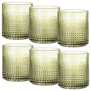 Green 300ml Drinking Glasses (Set of 6)