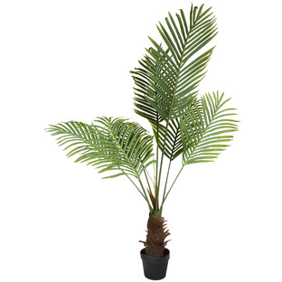 120cm Potted Faux Palm Tree with Long Leaves