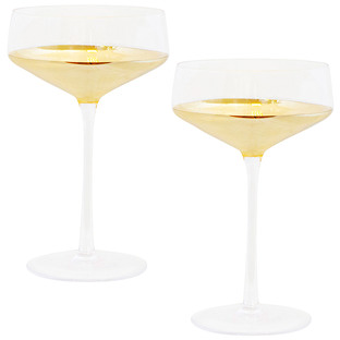 Estelle 300ml Crystal Coupe Glasses (Set of 2)