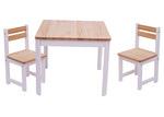 Tikk Tokk 3 Piece Envy Pine Wood Table & Chairs Set