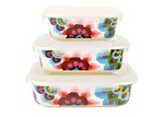French Bull 3 Piece Gala Porcelain Food Storage Bowl Set
