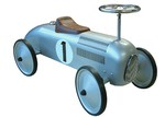 Johnco Productions Silver Metal Speedster Ride-On Car