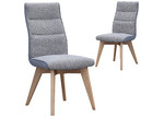 By Designs Grey Marco Linen Dining Chairs (Set of 2)