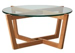 Estudio Furniture Monterey Glass & Oak Coffee Table