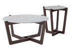 Estudio Furniture Monterey White Marble Coffee & Side Table Set