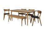 Estudio Furniture 6 Piece Camden Oak Dining Set