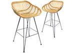 Estudio Furniture 76cm Kylie Rattan Barstools (Set of 2)