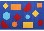 Network Rugs Shapes Blue Rubber Backed Kids Rug