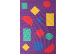 Network Rugs Shapes Purple Rubber Backed Kids Rug