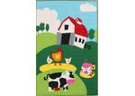 Network Rugs Farm Multi Rubber Backed Kids Rug